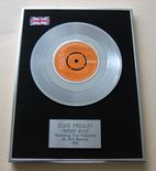 ELVIS PRESLEY - MOODY BLUE PLATINUM Single Presentation Disc